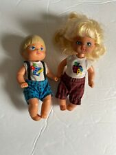 Mattel Barbie Dollhouse 1976 Toddler Happy Heart Family Vintage Baby Boy Girl