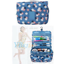 Travel Cosmetic Makeup Toiletry Pouch Case Wash Organizer Storage Hanging Bag
