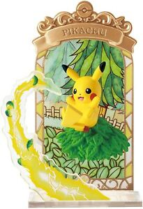 *UK Dispatch* Re-ment Pokemon STAINED GLASS Collection Figure - 1. Pikachu