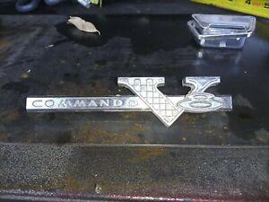 Plymouth COMMANDO V 8   EMBLEM   1964-1966 mopar 2578632 dodge