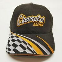 Chevrolet Racing Ball Cap Embroidered Black Adjustable Nascar Hat