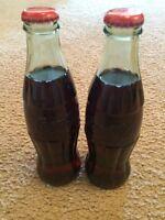 Lot of 2 Collectible Coke Coca-Cola Bottles 8 oz. WORLD OF COCA COLA ATLANTA GA