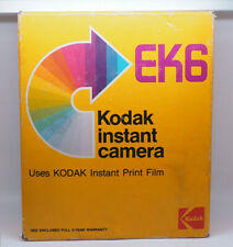 Vintage Kodak EK 6 Instant Camera w/Manual & Original Box