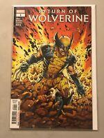 RETURN OF WOLVERINE #1 regular main cover uncanny x-men marvel comics event 2018