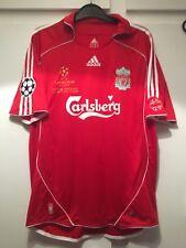 *L* 2006-07 Liverpool Home Champions League Final Football Shirt #8 Gerrard (k)