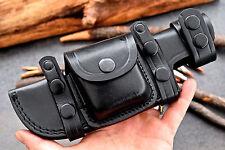 CFK Custom Handmade RIGHT-LEFT HAND Horizontal BLACK Scout Knife Blade sheath