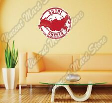 """Sochi Russia Country Map Grunge Vintage Wall Sticker Room Interior Decor 22"""""""