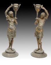 Pair of candle holders. Calamine. Possibly France, 19th century.