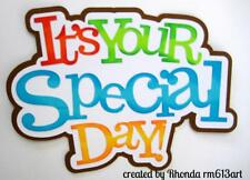 SPECIAL DAY TITLE party  boy scrapbook premade paper piecing by Rhonda
