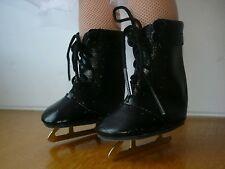 Chaussures patins à glace noir pour poupée cathie bella vetement accessoire