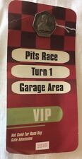 2001 Indianapolis 500 VIP Silver Pit Badge