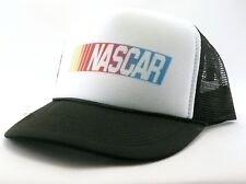 Vintage Nascar Trucker Hat mesh hat snap back hat black new adjustable race hat