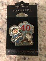Hallmark Keepsake 40 Years of Frosty Friends Cloisonne Style Pin 2019