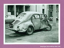 PHOTO DE POLICE CONSTAT D'ACCIDENT CRASH, RENAULT 4 CV, 1955 -J66