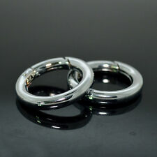1 PC  O Ring Snap Clip Trigger Key Ring Buckle Bag Accessories 38mm Silver Ring