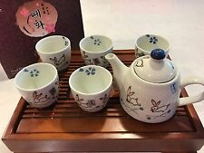 Hand Made Teapot set 5cups Cute Rabbit High Quality Hand Painted Gift Box New