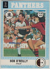 1977 SCANLENS RUGBY LEAGUE TRADING CARD #36: BOB O'REILLY - PENRITH PANTHERS