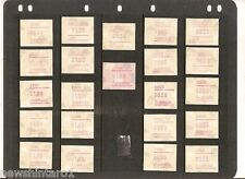 #T33. FOUR PAGES OF AUSTRALIAN MINT FRAMA VENDING MACHINE STAMPS