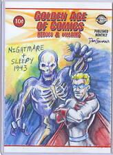 GOLDEN AGE OF COMICS 5X7 SKETCH NIGHTMARE & SLEEPY 1943