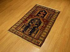 3 x 5 Handmade High Quality Afghan Pictorial Baluchi Tribal Rug _Veggie Dye Wool