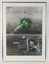 Velasquez & Roman Memoirs Surrealist Collage Painting Rafael Mahdavi French/Mexi