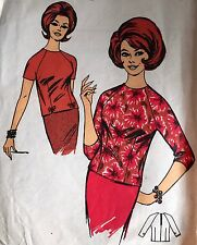 """USED & VINTAGE 1960'S 'BLACKMORE' SHIFT TOP PATTERN 9511 SIZE 18 38"""" BUST"""