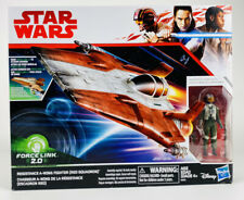 """Star Wars Force Link 2.0 Resistance A-Wing Fighter Red Squadron and Pilot 3.75""""T"""