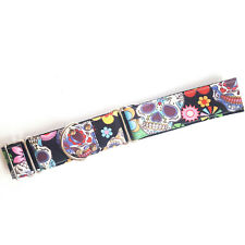 Martingale Dog Collar SUGAR SKULL Greyhound Whippet Lurcher ALL SIZES