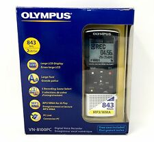 Olympus VN-8100PC Digital Voice Recorder 2GB- 843 Hours Rec.Time MP3 and WMA