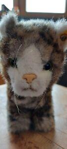 Stofftier Katze gestromt Wiskas? Mit Knopf von Steiff 🐈