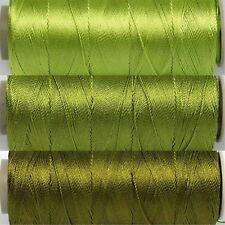 Greens Thread Set - 3 Spools Size 12 - 25gr 328yd ea Poly Embroidery CrossStitch
