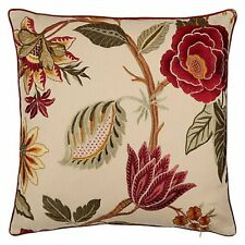 Zoffany Designer Cushion Cover Anjolie -  Contrast piped - Stunning Embroidery