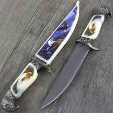 "13"" Bald Eagle Dagger Knife w/ Collector'S Sheath Fantasy Steel Hunting Blade"