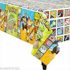 POKEMON Diamond and Pearl PLASTIC TABLE COVER ~ Birthday Party Supplies Decorate