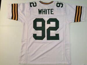 UNSIGNED CUSTOM Sewn Stitched Reggie White White Jersey - Extra Large