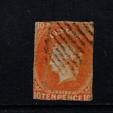 Ceylon - 1857/9, 10d Dull Vermillion stamp - used - SG 9