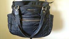 TWELVElittle  Diaper Baby Bag Quilted Tote Shoulder Bag color Black