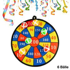 """Dartscheibe /""""Klett/"""" Ozean Steeldart Dart Wurfspiel Dartboard Kinder ink.12 Bälle"""