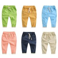 Cute Toddler Kids Boy Girl Trousers Baby Cotton Soft Trousers Harem Pants Summer