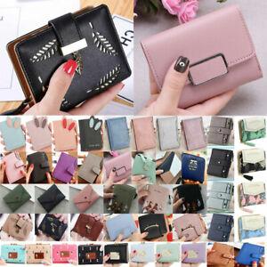 Women Ladies Short PU Leather Small Wallet Purse ID Card Coin Holder Handbag UK