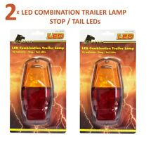 LED COMBINATION TRAILER LAMP X2 12V 50000 HOURS 16 INDICATOR-STOP-TAIL LEDs