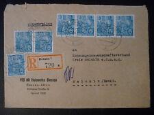 DDR MEF MiNr 453 Fünfjahrplan 7x 10Pfg Einschreiben, Holzwerke Dessau 24.12.56