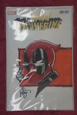 All-new Wolverine #1 var. w/color sketch old man deadpool by Haeser A.P. Nm