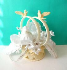 Vintage 1940's Wilton and Chicago Ring and Dove Wedding Cake Topper