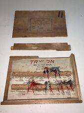 Trylon Fly Hook Assortment in Original Box Set of 11 Flies Japan Vintage wood, 2