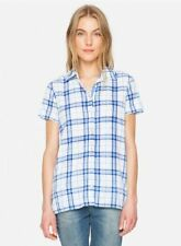 Cotton Blend Button-Down Casual Tops & Blouses for Women