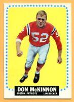 1964 Topps Football # 14A Don McKinnon (EM) Lot 701-- Boston Patriots