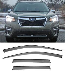 Tape-On Window Visors For 19-Up Subaru Forester JDM Side Rain Guards Visor New