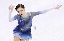 Blue Ice Figure Skating Dresses Custom  Competition Skating Dress Girls