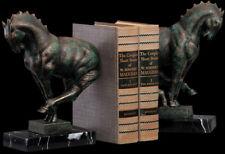 Art Deco Horses Cast Iron Sculptures Bookends (Set of 2)